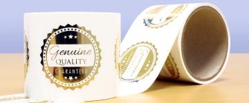 Metallic Foil Labels | www.stickersinternational.ie